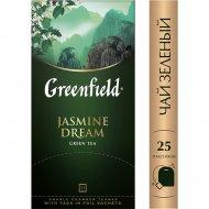 Чай зеленый «Гринфилд» жасмин, 25 пакетиков.