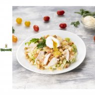 Салат «Цезарь» с курицей и яйцом пашот, 1/1000/150 .