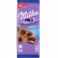 Шоколад «Milka» с печеньем Oreo и вкусом ванили, 92 г.