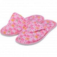 Туфли домашние женские «Amora» бледно-розовые.