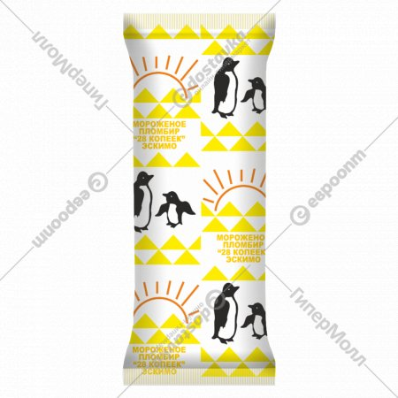 Мороженое пломбир «28 копеек» в лимонной глазури, 70 г.