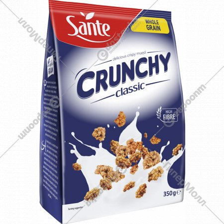Хрустящие овсяные хлопья «Crunchy» натуральные, 350 г.