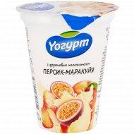 Йогурт с фруктовым наполнителем «Yогурт» персик-маракуйя, 2%, 310 г.
