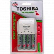 Зарядное устройство «Toshiba» + 4 батарейки АА, 2000 мАч.