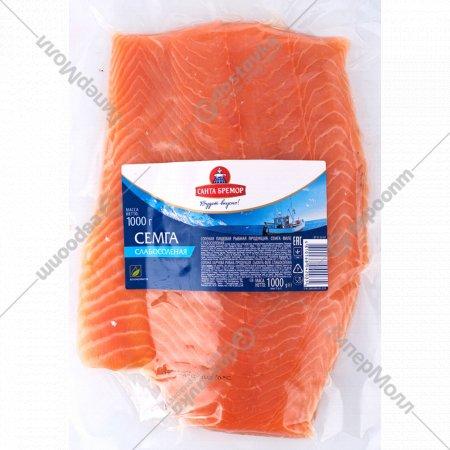Семга слабосоленая, филе, 1 кг