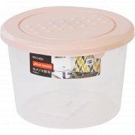 Емкость для хранения продуктов «Pattern» круглая, пудровый 0.8 л.