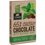 Шоколад горький 65% «Томер» с мятой, 90 г