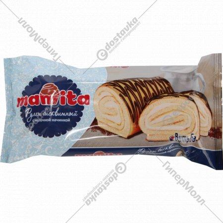 Рулет бисквитный «Mamita» с молочной начинкой, 180 г.