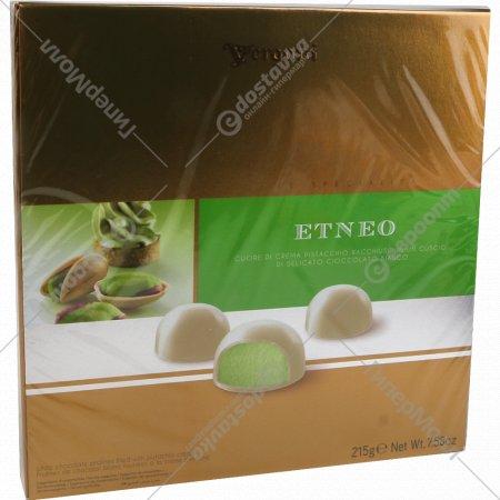 Итальянские пралиновые конфеты «Etneo» с фисташковым кремом, 215 г.