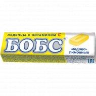 Леденцы «Бобс» мед и лимон, 35 г
