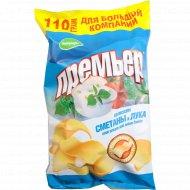 Чипсы картофельные «Премьер» со вкусом сметаны и лука, 110 г.