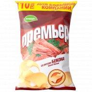 Чипсы картофельные «Премьер» со вкусом бекона, 110 г.