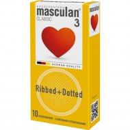 Презервативы «Masculan 3 classic» с колечками и пупырышками, 10 шт.