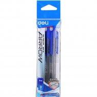 Набор автоматических шариковых ручек «Arrow» синие, 3 шт.