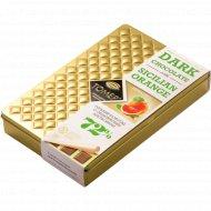 Шоколад горький 72% «Томер» с сицилийским апельсином, 90 г