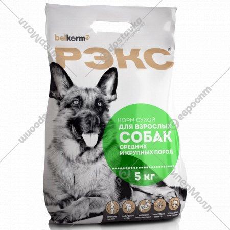 Корм для собак «Рэкс» крупных и средних пород, 5 кг.