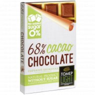 Шоколад горький 68% «Томер» без добавления сахара, 90 г