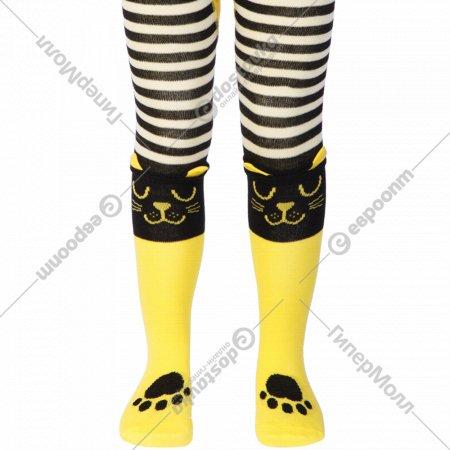 Колготки детские «Tip-Tot» черно-желтые, размер 92-98.