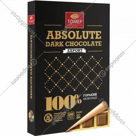 Шоколад горький 100% «Томер» 90 г
