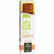 Шоколад молочный «Томер» без добавления сахара, 30 г
