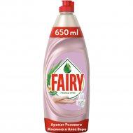 Средство для мытья посуды «Fairy» розовый жасмин и алоэ вера, 650 мл.