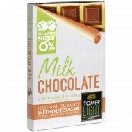 Шоколад молочный «Томер» без добавления сахара, 90 г