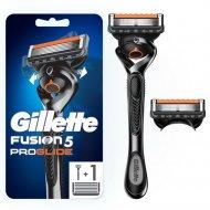 Мужская бритва «Gillette» Fusion ProGlidel, с 2 сменными кассетами.
