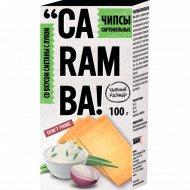 Чипсы картофельные «Caramba» со вкусом сметаны с луком, 100 г.