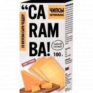 Чипсы картофельные «Caramba» со вкусом сыра чеддер, 100 г.