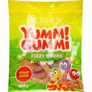 Конфеты желейные «Jummi Gummi» Fizzy Worms, 100 г.
