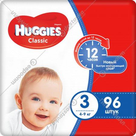 Подгузники «Huggies» Classic размер 3, 4-9 кг, 96 шт