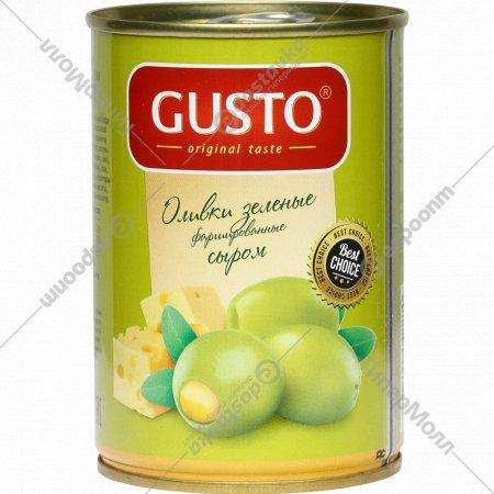Оливки зеленые «Gusto» фаршированные сыром, 280 г.