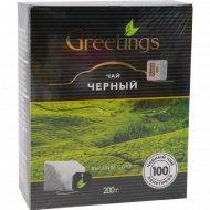 Чай черный байховый «Greetings» 100 пакетиков.