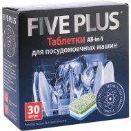 Таблетки для посудомоечных машин «Five Plus» 30 шт