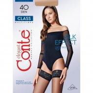 Чулки женские «Conte» Class 40, 40 den, размер 3-4, Bronz