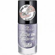 Лак для ногтей «Essence» Glitter on glitter off peel off, тон 05 Starlight Express, 8 мл
