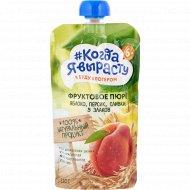 Пюре «Когда я вырасту» яблоко, персик, сливки, 5 злаков, 220 г