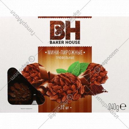 Мини-пирожные крошковые «Baker House» трюфель, 240 г.