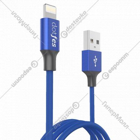 Кабель USB «Dotfes» A01 Lightning, 1м.