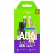 Кабель USB «Dotfes» A06 Dual Color Lightning, 1м.