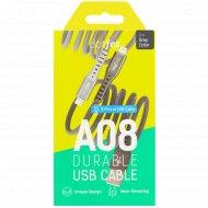 Кабель USB «Dotfes» A08 Durable Nylon Braided Lightning, 1м.