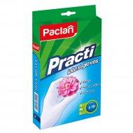 Перчатки «Paclan Practi» латекс р.М, 10 штук.
