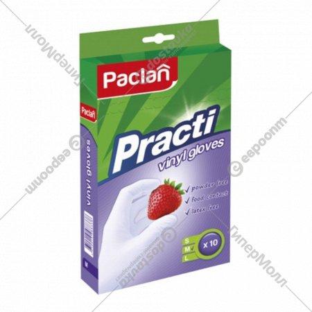 Перчатки «Paclan Practi» виниловые р.M, 10 штук.