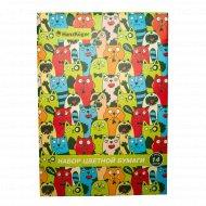 Набор цветной бумаги «HanzKoger» 14 листов, 7 цветов