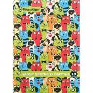 Набор цветного картона «HanzKoger» 10 листов, 5 цветов