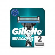 Сменные кассеты для мужской бритвы «Gillette» Mach3 , 2 шт.