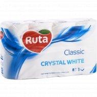 Бумага туалетная «Ruta» classic, белая, 8 рулонов
