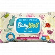 Салфетки влажные детские «Baby Likes» для мальчиков, 100 шт.