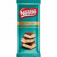 Шоколад молочный и белый «Nestle» пористый, 82 г.