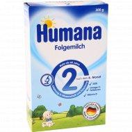 Сухая молочная смесь «Humana 2» для детей с 6 до 12 месяцев, 300 г.